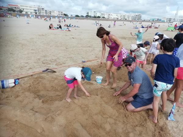 concours de sable famille